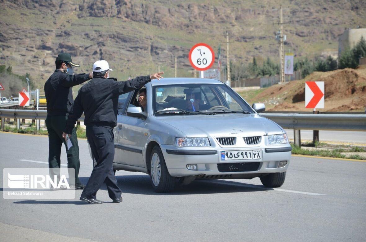 خبرنگاران پلیس راهور در اعمال محدودیت های کرونایی تردد خودروها با رانندگان تعارف ندارد